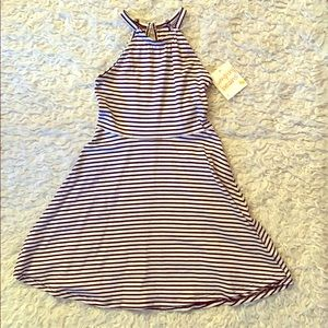 Girls jumping beans striped dress